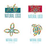Set of Logos. Set of vector logos with coloful pattern Royalty Free Stock Photography