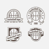 Set of logos from sports equipment Royalty Free Stock Images