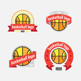 Set of logos from sports equipment Royalty Free Stock Photography