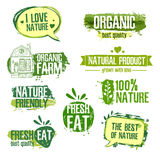 Set of logos, stamps, badges, labels for natural Stock Photo