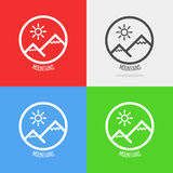 Set of Logos with Swiss Alps Royalty Free Stock Image