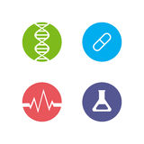 Set of logos on the theme of medicine and health. Royalty Free Stock Photography