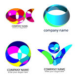 Set - logos Stock Photo