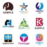 Logos. A set of logos of various subjects Royalty Free Stock Photos