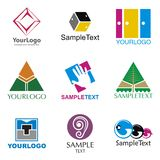 Logos. A set of logos of various subjects Royalty Free Stock Image
