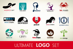 Set of logos vector Royalty Free Stock Photo