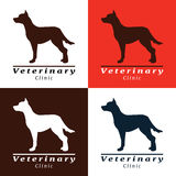 Set of logos for vet clinic with dog Stock Photo