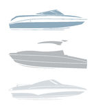 Set of logos for yachts and boats. On hwite background Royalty Free Stock Photo