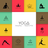 Set of logos for a yoga studio Stock Image