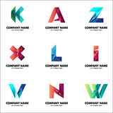 A set of logos for your business. The initial letters of the company name Stock Image