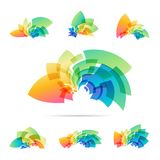 Set logotype, colorful abstraction sign Stock Images