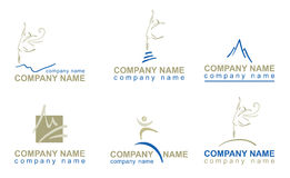 Set of logotypes for companies Stock Photo