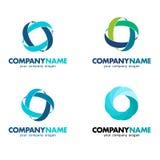 Set logowie dla biznesu Zdjęcia Stock