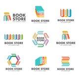 Set logowie dla książkowego sklepu Obraz Stock