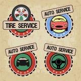 Set logowie dla samochód usługa - wektorowa ilustracja ilustracja wektor