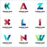 Set logowie dla twój biznesu Początkowi listy firmy imię Obraz Stock