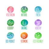 Set logowie, ikony, etykietki, majchery lub znaczki, Ilustracja Wektor