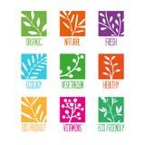 Set logowie, ikony, etykietki, majchery lub znaczki, Obraz Royalty Free