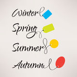 Set logowie z etykietkami dla sezonowych sprzedaży Obrazy Stock