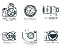 Set logowie z kamerą royalty ilustracja