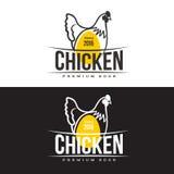 Set logowie z kurczakiem royalty ilustracja