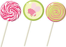 Set of the lollipops Royalty Free Stock Images
