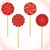 Set Of Lollipops Stock Photos