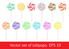 Set of lollipops. Stock Photos
