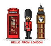 Set of London city Royalty Free Stock Photography
