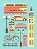 Set of london objects Royalty Free Stock Image