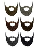 Set long beard and mustache different colors. fashion beauty style . Stock Photo