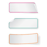 Set of long sticker labels. Design templates for infographics. Royalty Free Stock Photo