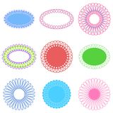 Set of Loop Frames. Set of loop borders or frames in round and oval shapes Stock Photos