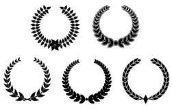 Set Lorbeer Wreaths lizenzfreie abbildung