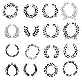 Set Lorbeer Wreaths stock abbildung