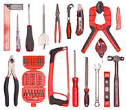A Set of a lot of different tools. On the white stock photo