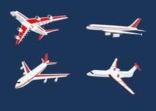 Set lotniczych samolotów odosobniona wektorowa ilustracja royalty ilustracja