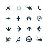 Set lotniskowe ikony Fotografia Stock