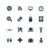 Set lotniskowe ikony Fotografia Royalty Free
