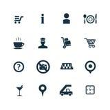 Set lotniskowe ikony Zdjęcie Stock