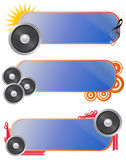 Set loudspeaker audio banner Stock Photography