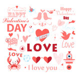 Set with a love Royalty Free Stock Photo