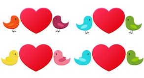 Set of love birds Royalty Free Stock Images