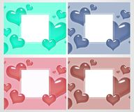 Set of love cards and banners for Valentine`s Day. Great for poster, menu, party invitations, social media, web banner Royalty Free Stock Photos