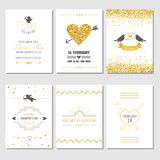 Set of Love Cards Royalty Free Stock Images