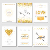 Set of Love Cards Stock Photo