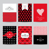 Set of Love Cards - Wedding, Valentine's Day Stock Images