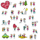 Set 1, love is... royalty free illustration