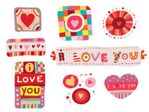 Set of Love Elements Stock Photo
