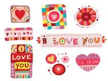 Set of Love Elements Stock Photo